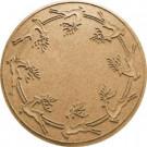 Aqua Shield Gold 35 in. Round Reindeer Run Under the Tree Mat-20648643535 206317281