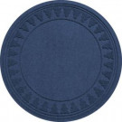 Aqua Shield Navy 35 in. Round Pine Trees Under the Tree Mat-20293613535 206317257