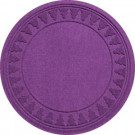Aqua Shield Purple 35 in. Round Pine Trees Under the Tree Mat-20293683535 206317264