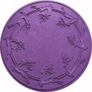 Aqua Shield Purple 35 in. Round Reindeer Run Under the Tree Mat-20648683535 206317284