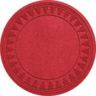 Aqua Shield Red 35 in. Round Pine Trees Under the Tree Mat-20293653535 206317261