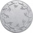 Aqua Shield White 35 in. Round Reindeer Run Under the Tree Mat-20648623535 206317279