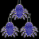 Battery Operated 10-Light LED Purple Halloween Spider Light Set (Set of 2)-97-602-20 204619501