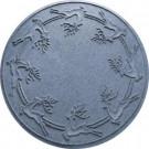 Bungalow Flooring Aqua Shield Bluestone 35 in. Round Reindeer Run Under the Tree Mat-20648583535 206317275