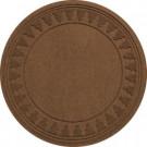 Bungalow Flooring Aqua Shield Dark Brown 35 in. Round Pine Trees Under the Tree Mat-20293523535 206317250