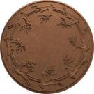 Bungalow Flooring Aqua Shield Dark Brown 35 in. Round Reindeer Run Under the Tree Mat-20648523535 206317268