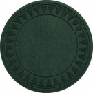 Bungalow Flooring Aqua Shield Evergreen 35 in. Round Pine Trees Under the Tree Mat-20293593535 206317256