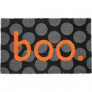 Entryways Boo 17 in. x 28 in. Non-Slip Coir Door Mat-P2037 205850035