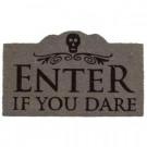 Entryways Enter if You Dare 17 in. x 28 in. Non-Slip Coir Door Mat-P2073 207050802