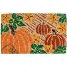 Entryways Pumpkin Patch 18 in. x 30 in. Coir Door Mat-2081 207050723