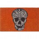 Entryways Skull 17 in. x 28 in. Non-Slip Coir Door Mat-P2036 205850034