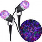 Gemmy 10.24 in. Projection Kaleidoscope LED POG Light Stake (2-Pack)-73100 206851982