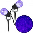 Gemmy 10.24 in. Projection Kaleidoscope LED Purple Light Stake (2-Pack)-73101 206851983