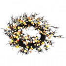 Home Accents Holiday 20 in. Artificial Wreath with Candy Corn-SIMUS0073 206791309