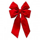 Home Accents Holiday 24 in. x 36 in. Commercial Red Velvet Bow-4400P4-24INHO 205539186