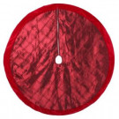 Home Accents Holiday 56 in. Burgundy Pintucked Satin Christmas Tree Skirt-2564283-1HC 204081473