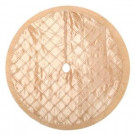 Home Accents Holiday 56 in. Gold Pintucked Satin Christmas Tree Skirt-2564283-3HC 204081475