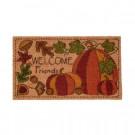 Home Accents Holiday Appliqued Pumpkins 17 in. x 29 in. Coir Door Mat-519506 206979348