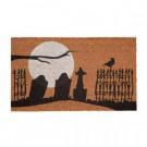 Home Accents Holiday Graveyard 17 in. x 29 in. Coir Door Mat-519445 206979353