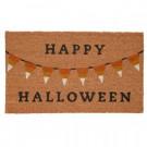 Home Accents Holiday Halloween Bunting 17 in. x 29 in. Coir Door Mat-519452 206979351