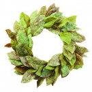 Home Decorators Collection 28 in. Artificial Wreath with Magnolia Leaves-9307910610 206461113