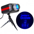 LightShow LED Projection Countdown to Christmas in Blue-12666 206768297