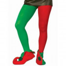 Music Legs Adult Red and Green Elf Tights-7556FW 205737052