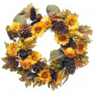 National Tree Company 22 in. Wreath with Pumpkins and Sunflowers-RAHV-15560W22 207123490