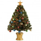 National Tree Company 3 ft. Fiber Optic Fireworks Artificial Christmas Tree with Ball Ornaments-SZOX7-176-36 205331435