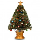 National Tree Company 3 ft. Fiber Optic Fireworks Artificial Christmas Tree with Ball Ornaments-SZOX7-176L-36 300496222